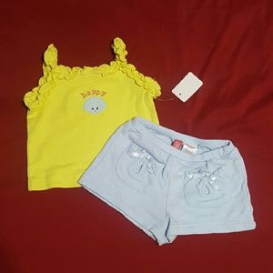 Gymboree Happy Mermaid Magic Outfit Girls 3/6 mont